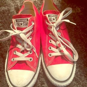 Converse All-Stars women 8 men 6 red white